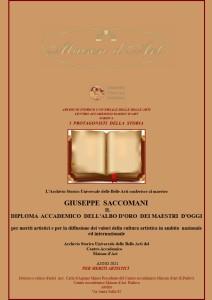 Diploma Accademico dell'Albo d'oro deii Maestri d'oggi