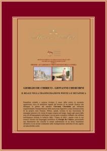 Giorgio De Chirico - Giovanni Cherubini - testo critico