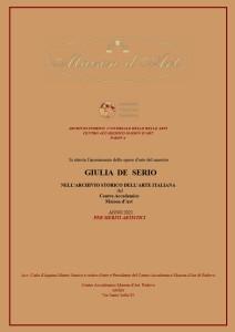 Attestato Archiviazione opere d'arte 2021